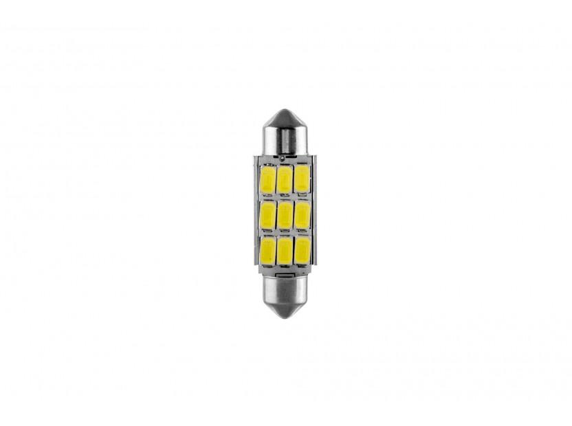 LED лампа AutoPro C5W Canbus, студено бяла, 12V, 0.5W, SV8.5-8, 39 мм, 1 брой