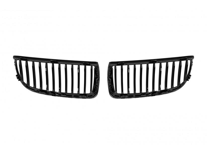 Бъбреци хром/черни за BMW серия 3 E90 седан, E91 комби 2005-2008 3