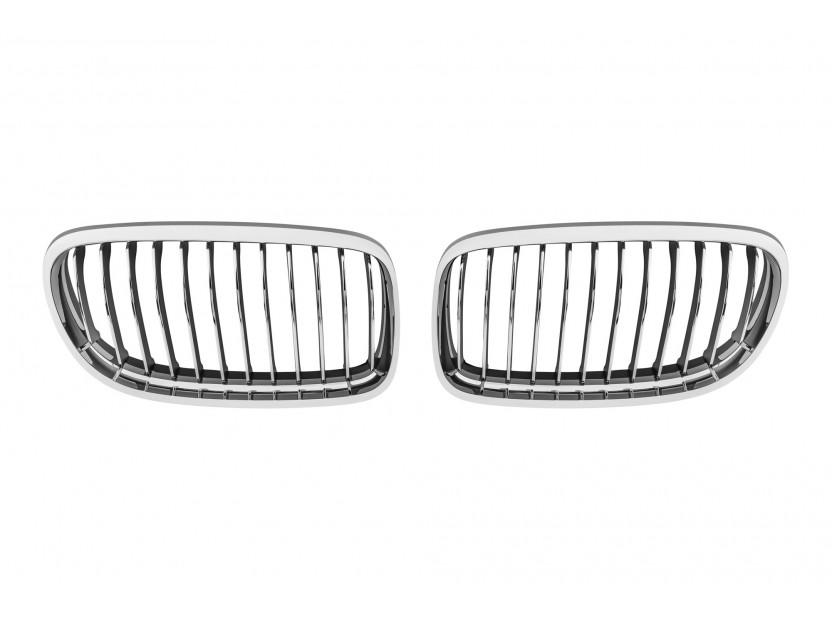 Бъбреци хром/черни за BMW серия 3 E90 седан, E91 комби 2008-2011