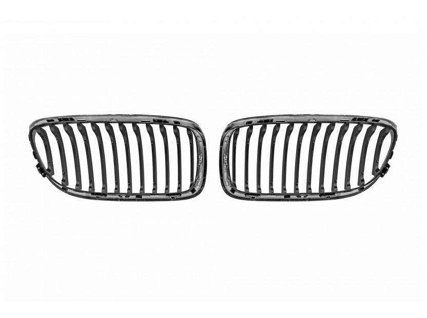 Бъбреци хром/черни за BMW серия 3 E90 седан, E91 комби 2008-2011 3