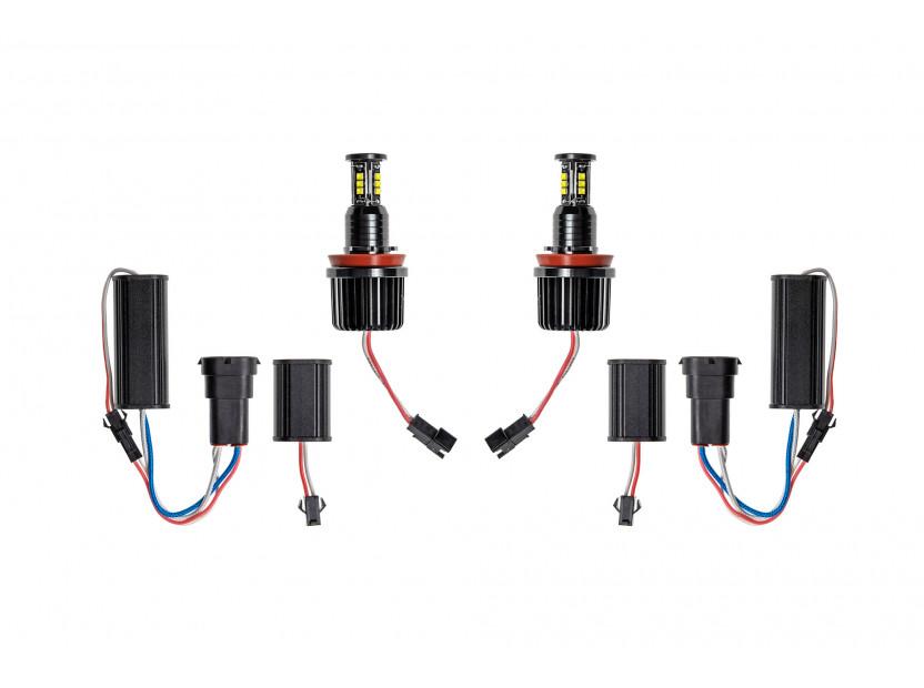 Бели LED лампи autopro за фабрични ангелски очи H8 120W CREE