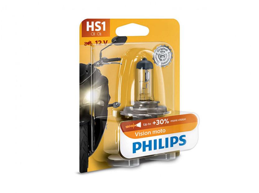 Халогенна крушка Phlips HS1 Vision Moto 12V, 35/35W, PX43t, 1 брой