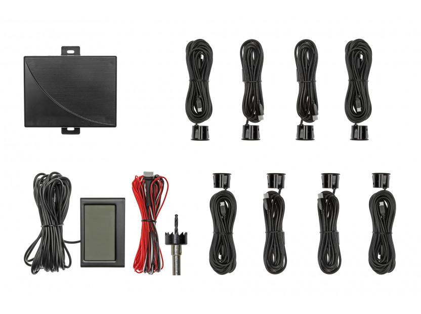 Парктроник система с 2.3'' LCD дисплей RD-058 с 8 черни датчика
