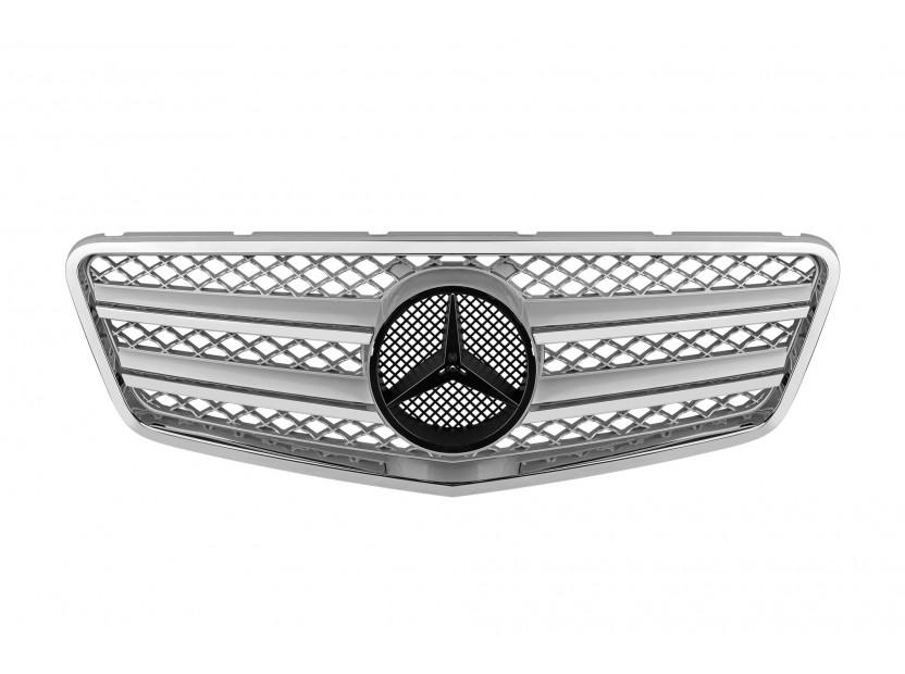 Хром/сива решетка тип AMG за Mercedes E класа W212 2009-2013