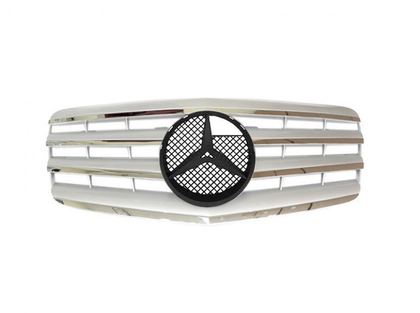 Хром/сива решетка за Mercedes E класа W211 2006-2009