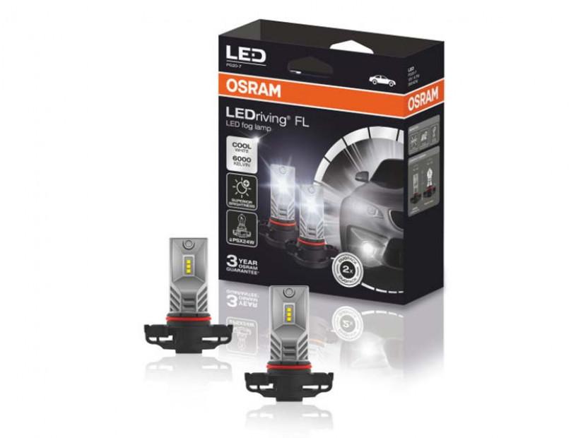 Комплект 2 броя LED лампи Osram тип PSX24W бели, 12V, 21W, PG20-7