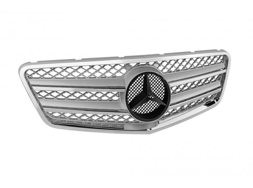 Хром/сива решетка тип AMG за Mercedes E класа W212 2009-2013 3