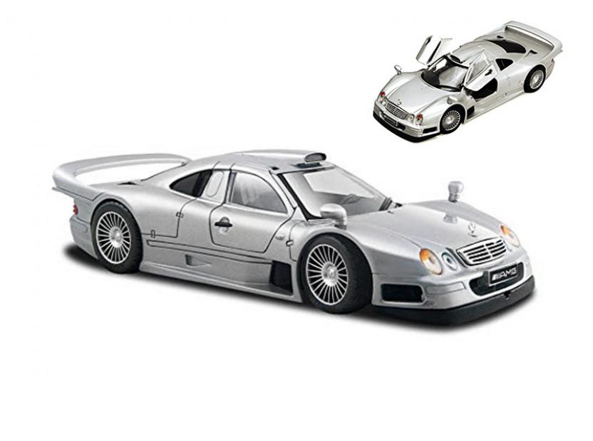 Играчка Maisto Fresh Metal сив Mercedes CLK-GTR в мащаб 1:24