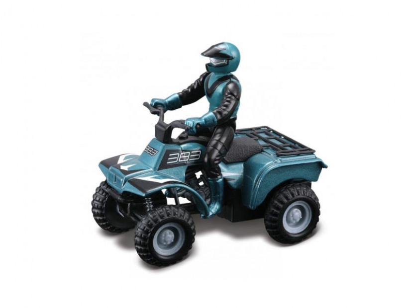 Играчка Maisto Fresh ATV синьо-зелено с моторист