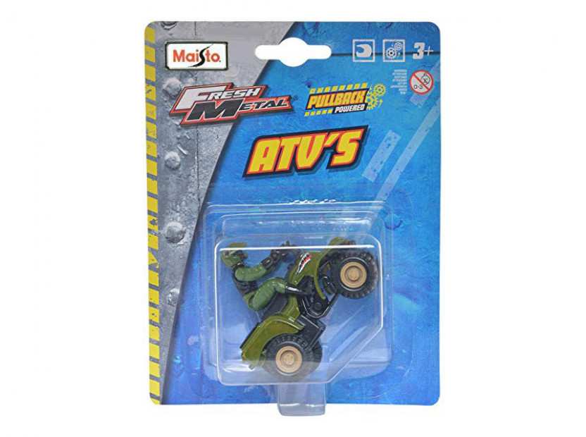 Играчка Maisto Fresh ATV военно зелен с моторист