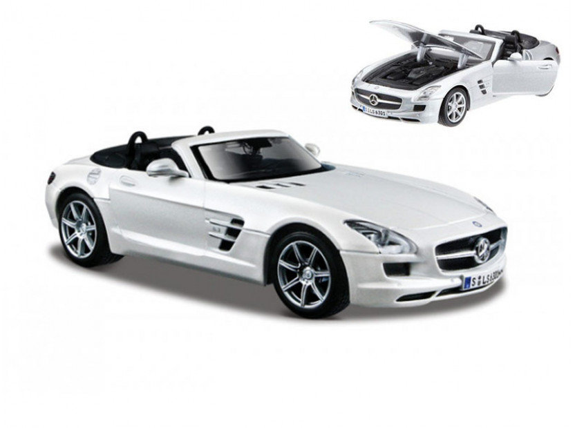 Играчка Maisto Fresh Metal бял Mercedes SLS кабрио в мащаб 1:24