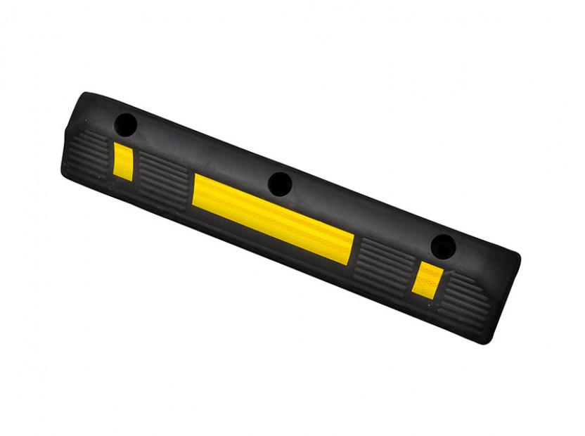 Гумен стопер Petex за паркиране 55х15х10см със светлоотразителна лента 2
