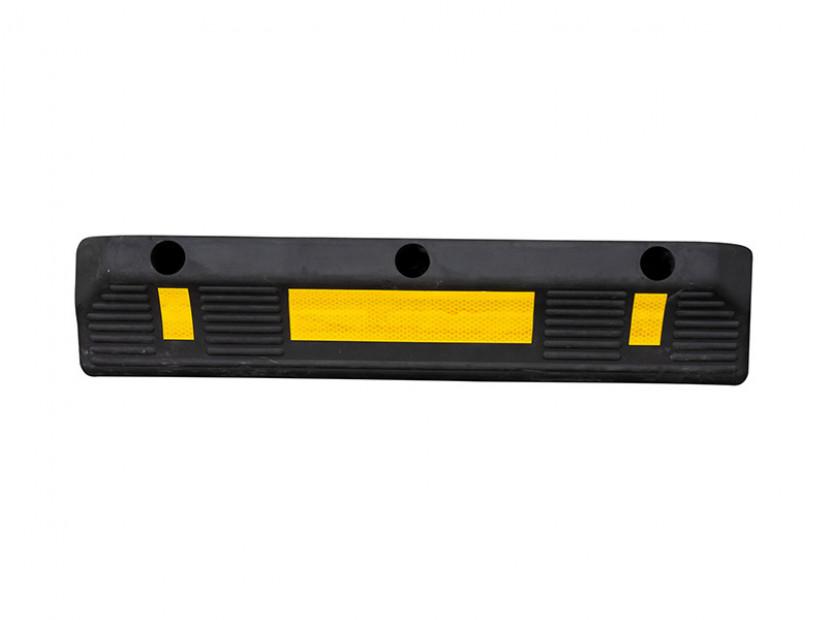 Гумен стопер Petex за паркиране 55х15х10см със светлоотразителна лента
