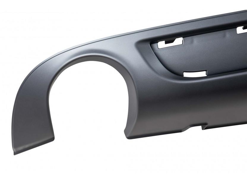 Дифузьор тип S line за задна броня за Audi A6 Avant 2008-2010 с двоен отвор/единичен накрайник -о—о- 3