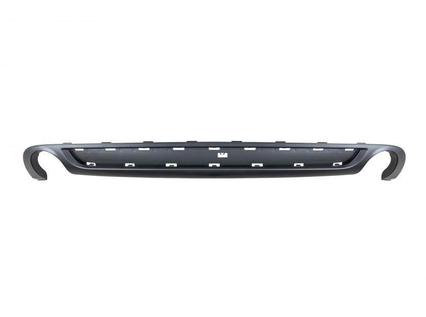 Дифузьор тип S line за задна броня за Audi A6 Avant 2008-2010 с двоен отвор/единичен накрайник -о—о-