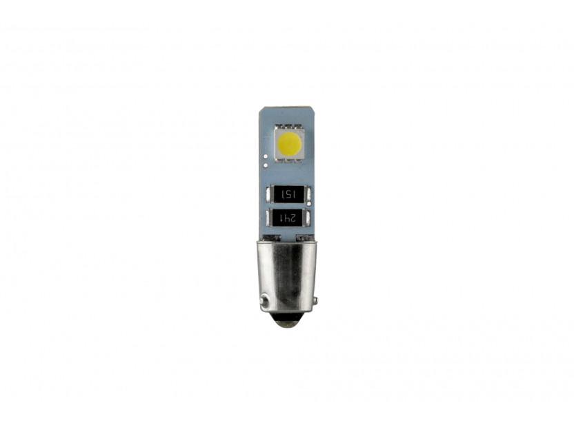 LED лампа AutoPro H6W студено бяла, 12V, 1W, BAX9s, 1 брой