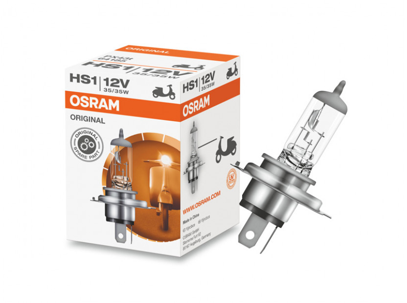 Халогенна крушка Osram HS1 Moto Original 12V, 35/35W, PX43t, 1 брой