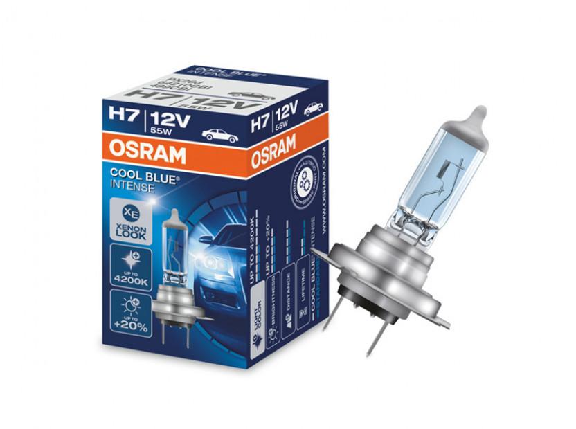Халогенна крушка Osram H7 Cool Blue Intense 12V, 55W, PX26d, 1 брой