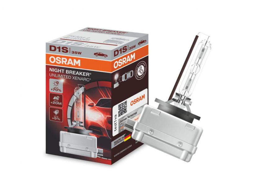 Ксенонова лампа Osram D1S Night Breaker Unlimited 85V, 35W, PK32d-2 1бр.