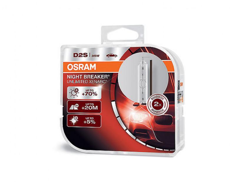 Комплект 2 броя ксенонови лампи Osram D2S Night Breaker Unlimited 85V, 35W, P32d-2