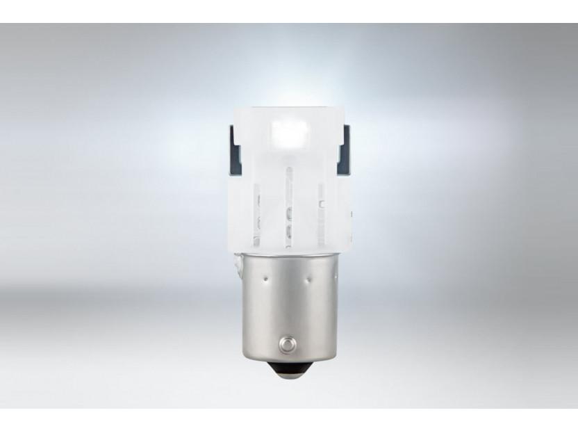 Комплект 2 броя LED лампи Osram тип P21W бели 6000K, 160LM, 12V, 1.40W, BA15s 2