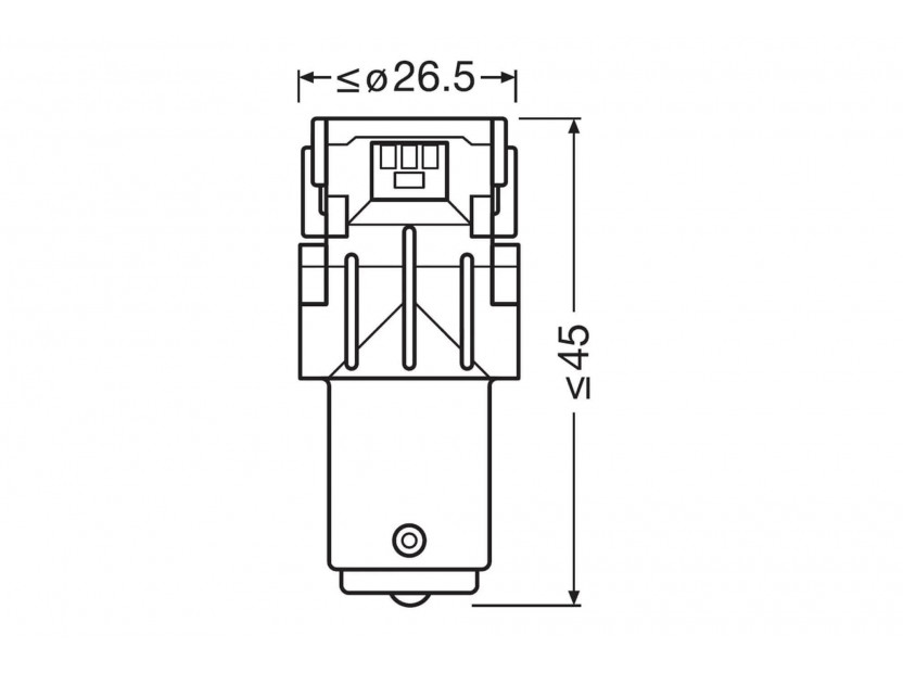 Комплект 2 броя LED лампи Osram тип P21W бели 6000K, 160LM, 12V, 1.40W, BA15s 4