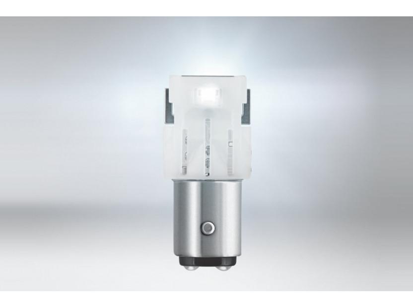 Комплект 2 броя LED лампи Osram тип P21/5W бели 6000K, 145LM, 2W, BAY15d 2