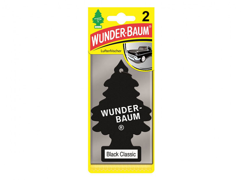 Комплект 2 броя ароматизатори Wunder-Baum, серия Борче, аромат Black Classic