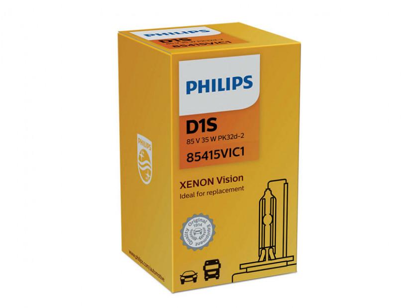 Ксенонова лампа Philips D1S Vision 85V, 35W, PK32d-2 1бр.