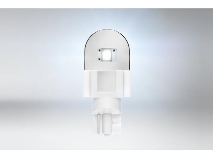 Комплект 2 броя LED лампи Osram тип W16W бели 6000K, 280LM, 12V, 2.10W, W2.1x9.5d 3
