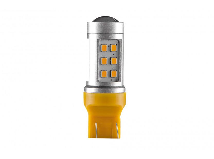 LED лампа AutoPro W21W/5W оранжева, 12V, 10W, W3x16q, 1 брой