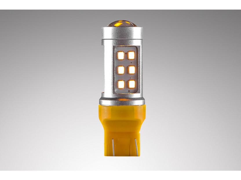 LED лампа AutoPro W21W/5W оранжева, 12V, 10W, W3x16q, 1 брой 3