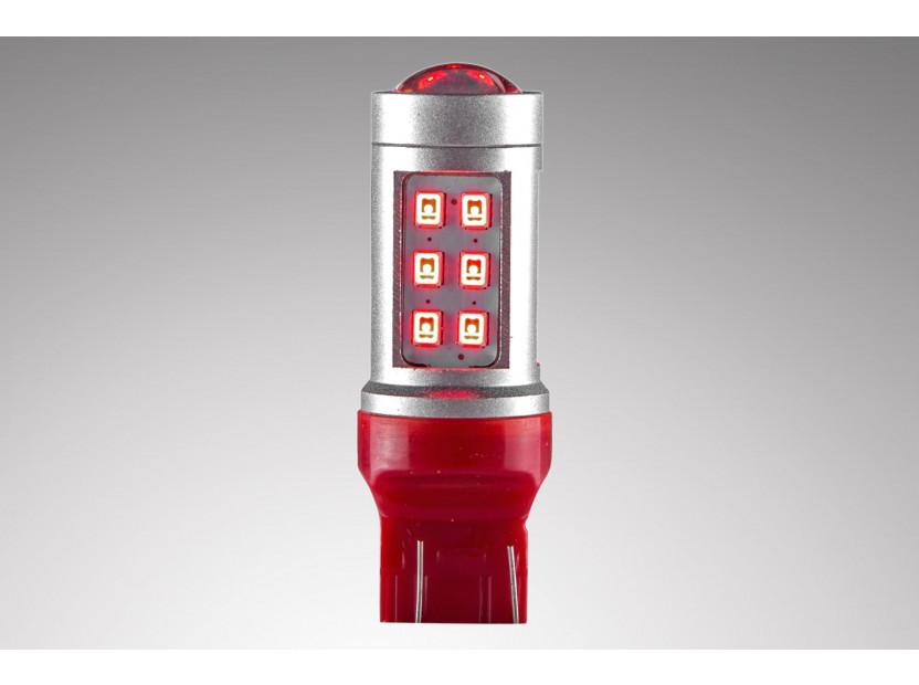 LED лампа AutoPro W21W/5W червена, 12V, 10W, W3x16q, 1 брой 3