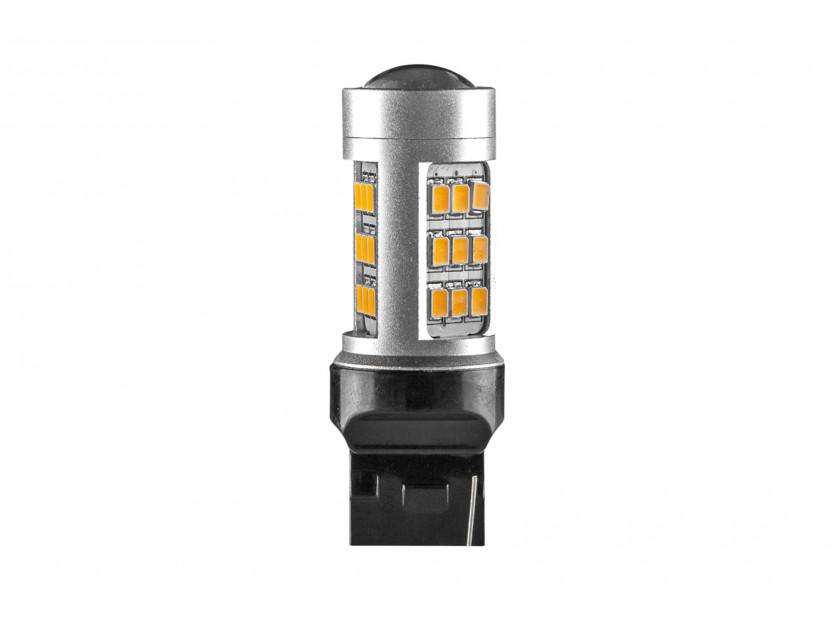 LED лампа AutoPro W21W оранжева, 12V, 10W, W3x16d, 1 брой
