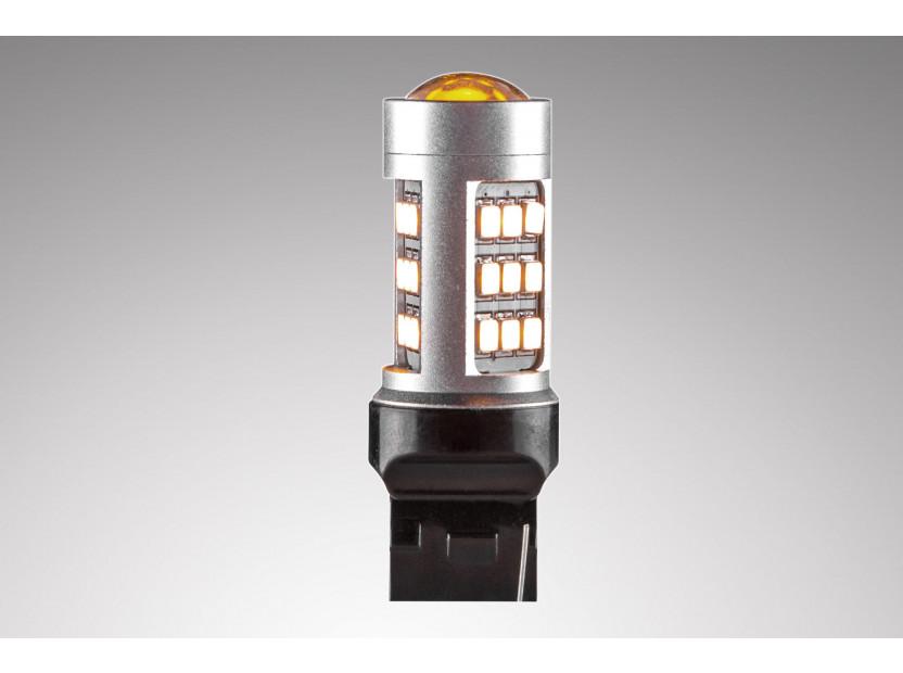 LED лампа AutoPro W21W оранжева, 12V, 10W, W3x16d, 1 брой 3