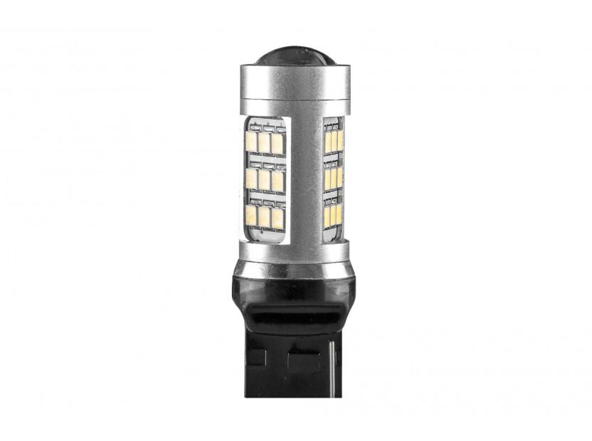 LED лампа AutoPro W21W студено бяла, 12V, 10W, W3x16d, 1 брой
