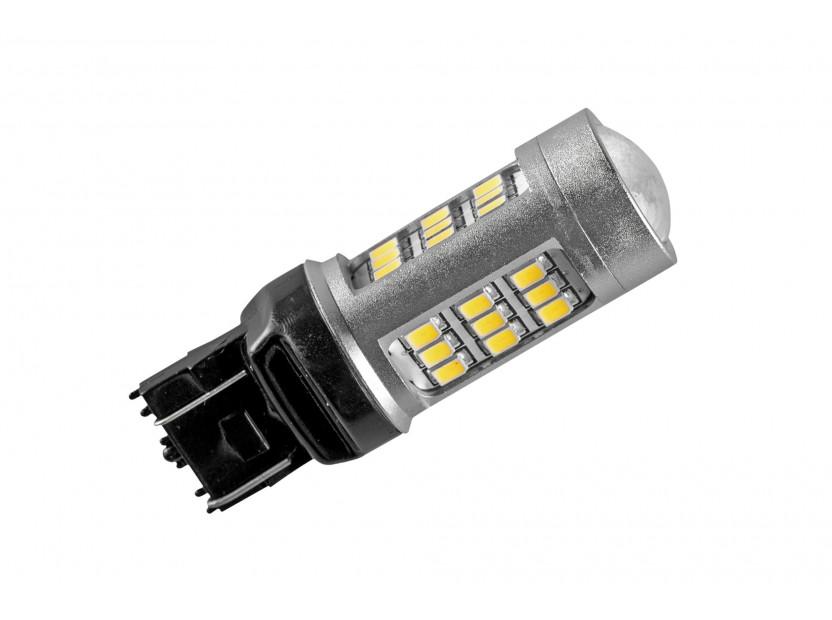 LED лампа AutoPro W21/5W студено бяла, 12V, 10W, W3x16q, 1 брой 2