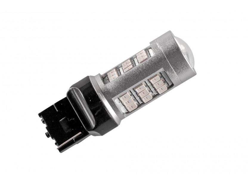 LED лампа AutoPro W21W червена, 12V, 10W, W3x16d, 1 брой 2