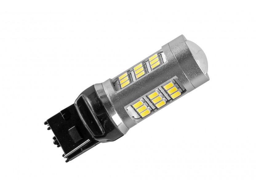 LED лампа AutoPro W21W студено бяла, 12V, 10W, W3x16d, 1 брой 2