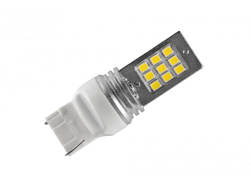LED лампа AutoPro W21W студено бяла, 12V, 6W, W3x16d, 1 брой 2