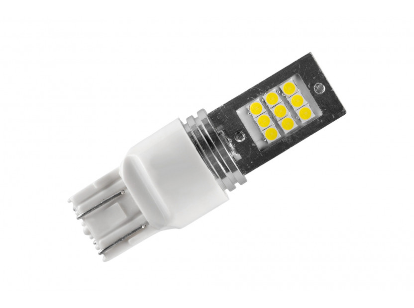LED лампа AutoPro W21W/5W студено бяла, 12V, 9W, W3x16q, 1 брой 2