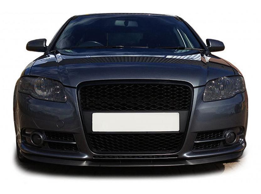 Черен мат решетка без емблема тип RS за Audi A4 B7 седан, комби 2004-2007 без отвори за парктроник 4