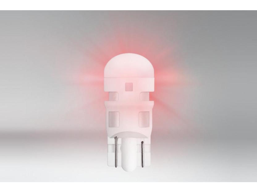 Комплект 2 броя LED лампи Osram тип W5W червени, 15LM, 12V, 0.6W, W2.1x9.5d 2