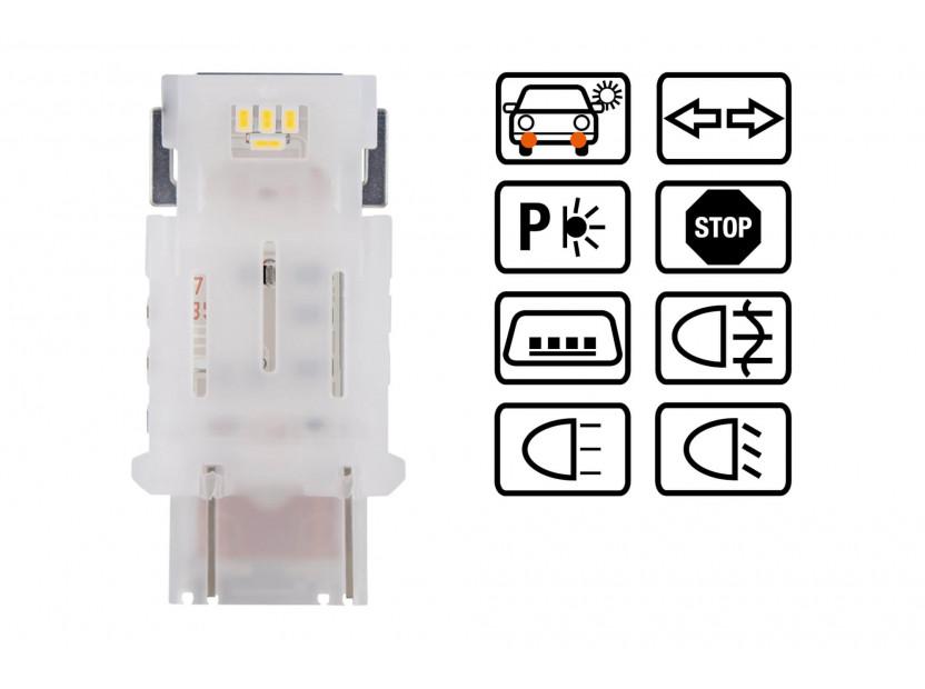 Комплект 2 броя LED лампи Osram тип P27/7W бели 6000K, 145LM, 12V, 1.70W, W2.5x16q 3