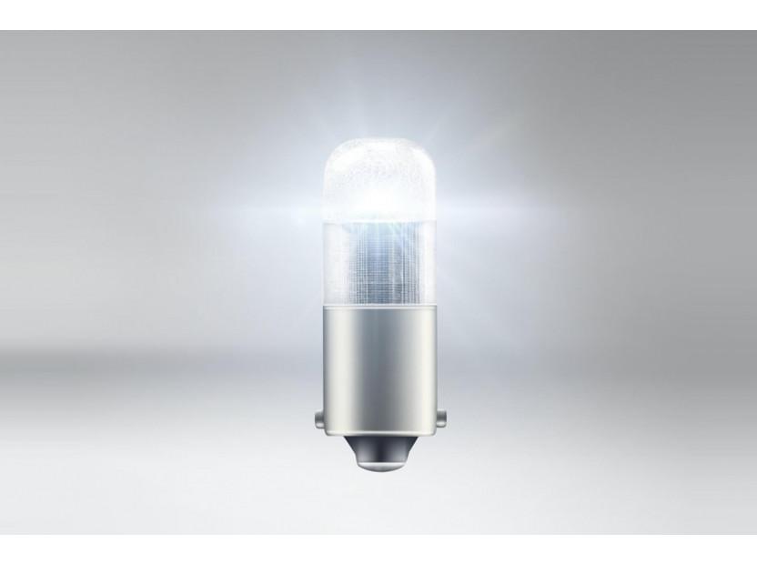 Комплект 2 броя LED лампи Osram тип T4W бели 6000K, 75LM, 12V, 0.80W, BA9s 2