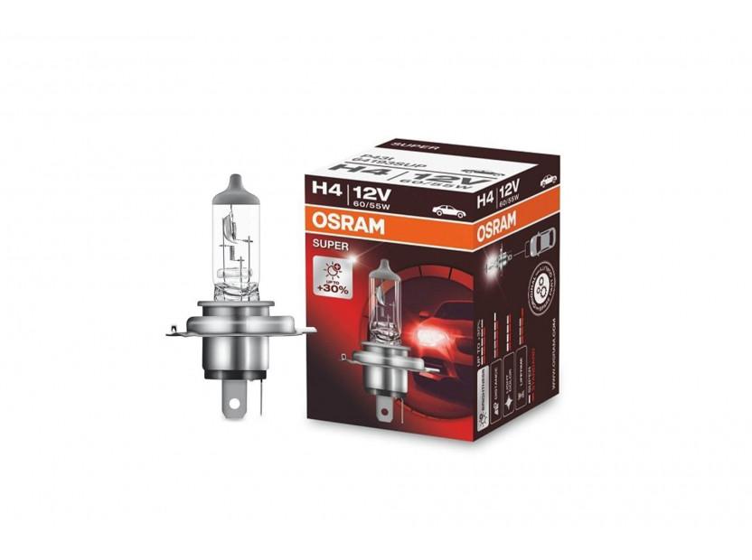 Халогенна крушка Osram H4 Super 12V, 60/55W, P43t, 1 брой