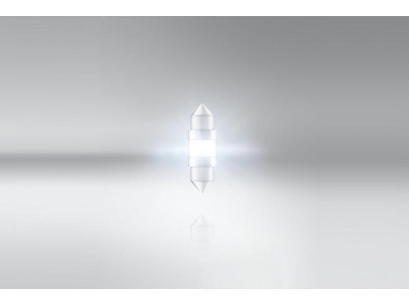 LED лампа Osram тип C5W 31mm., студено бяла 6000K, 12V, 45LM, 1W, SV8.5-8, 1 брой 3