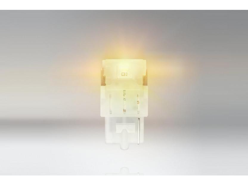 Комплект 2 броя LED лампи Osram тип WY21W кехлибар, 12V, 55LM, 1.30W, WX3x16d 2