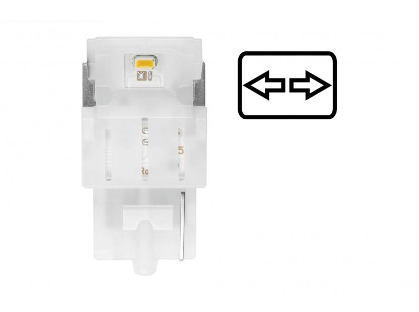 Комплект 2 броя LED лампи Osram тип WY21W кехлибар, 12V, 55LM, 1.30W, WX3x16d 3