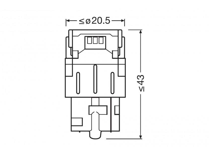 Комплект 2 броя LED лампи Osram тип WY21W кехлибар, 12V, 55LM, 1.30W, WX3x16d 4